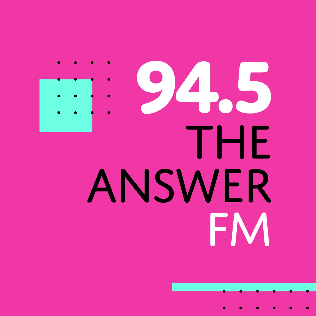 94.5 FM - The Answer: Square Logo for FM and HD Radio