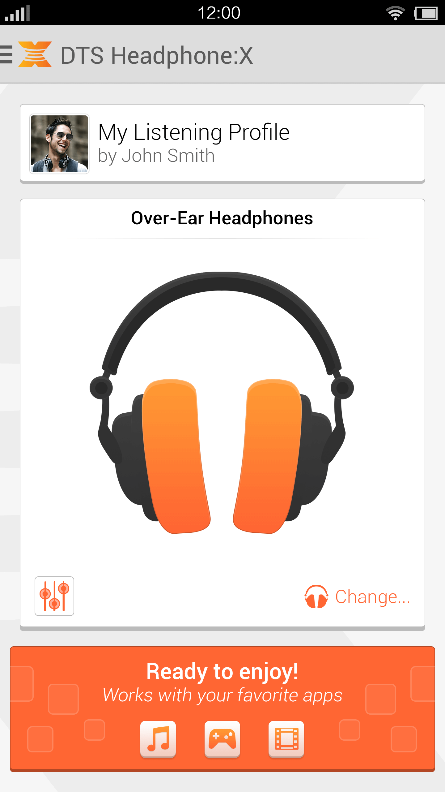 DTS Headphone:X Android Control Panel App