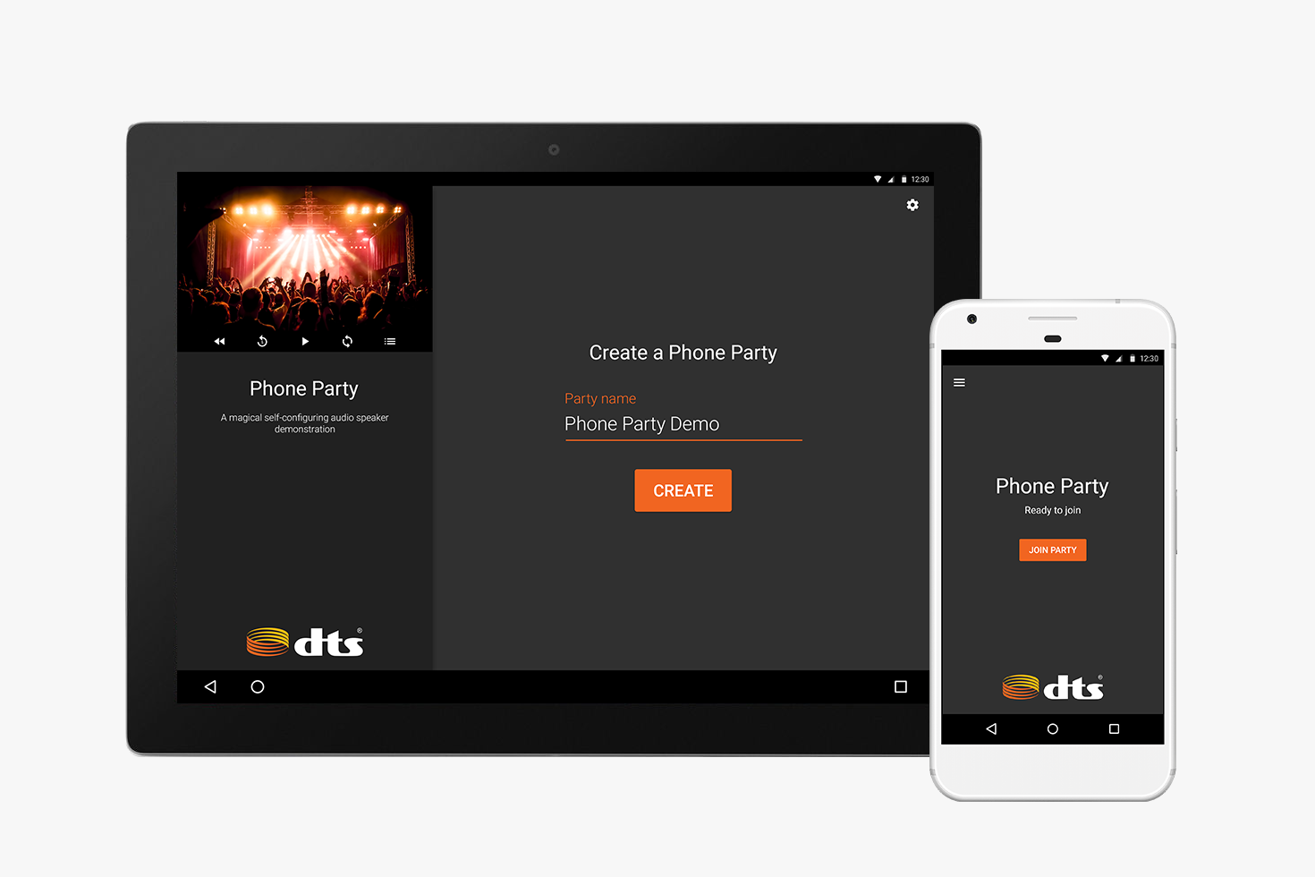 Create a Phone Party: Screen Mockups
