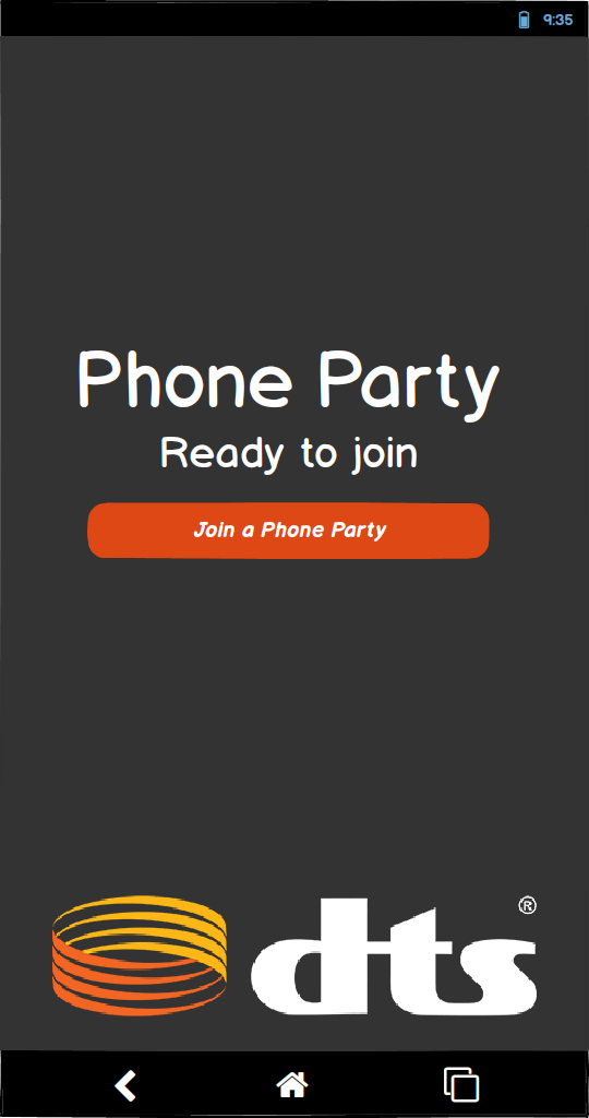 Phone App - Not in a Phone Party: Wireframe