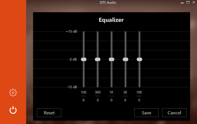 Graphic Equalizer Screen