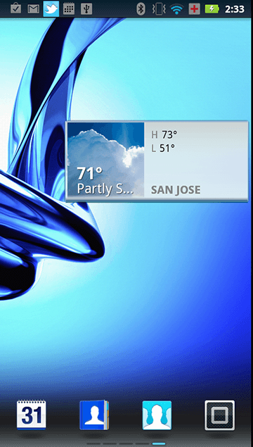 Weather Widget - 3x1